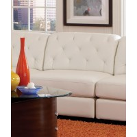 QUINN SECTIONAL - Quinn White Leather Armless Chair