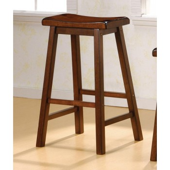 BAR STOOLS: WOOD FIXED HEIGHT - BAR HEIGHT STOOL (Pack of 2)