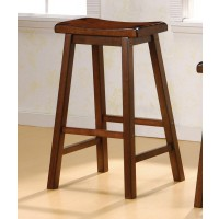 BAR STOOLS: WOOD FIXED HEIGHT - BAR STOOL (Pack of 2)