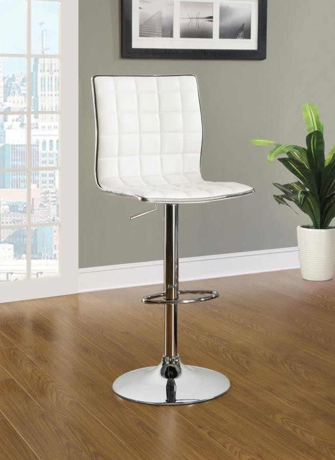 WAFFLE ADJUSTABLE BAR STOOLS - ADJUSTABLE BAR STOOL (Pack of 2)