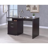 IRVING COLLECTION - Office Desk with Drawer in Cappuccino