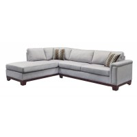 MASON SECTIONAL - Mason Casual Blue Grey Sofa