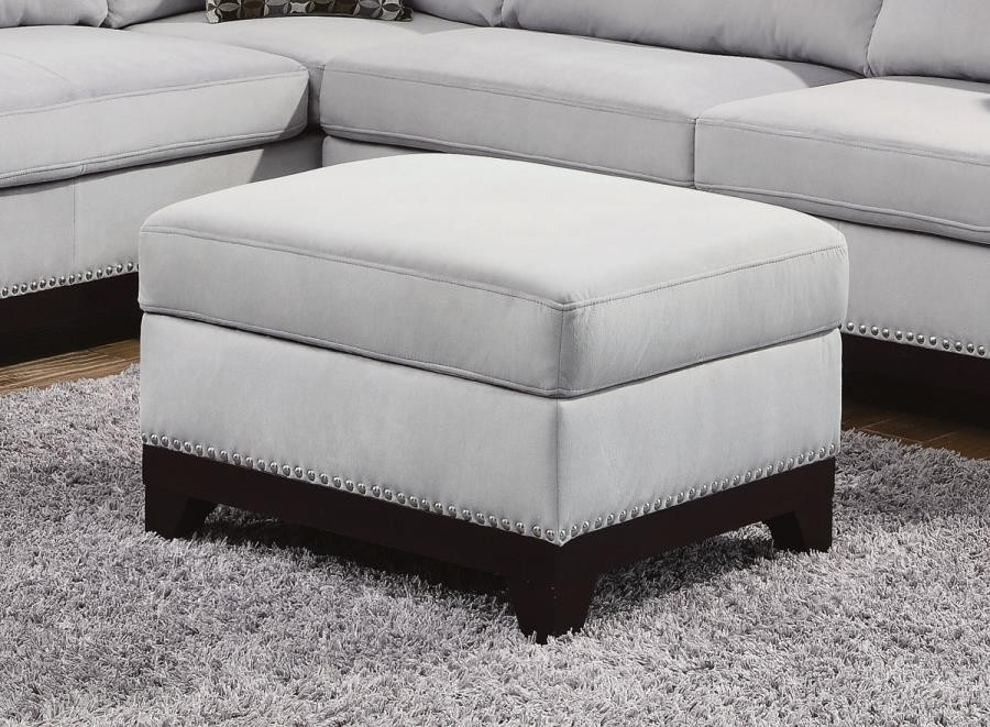 MASON SECTIONAL - Mason Casual Blue Grey Storage Ottoman