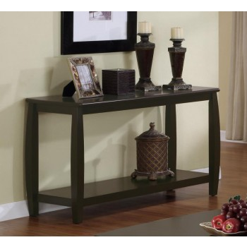 LIVING ROOM : WOOD TOP OCCASIONAL TABLES - SOFA TABLE