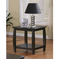 LIVING ROOM : WOOD TOP OCCASIONAL TABLES - Wood Top Espresso End Table