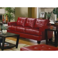 SAMUEL COLLECTION - Samuel Transitional Red Sofa