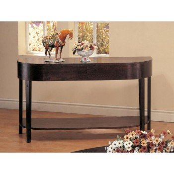 LIVING ROOM: WOOD TOP OCCASIONAL TABLES - SOFA TABLE