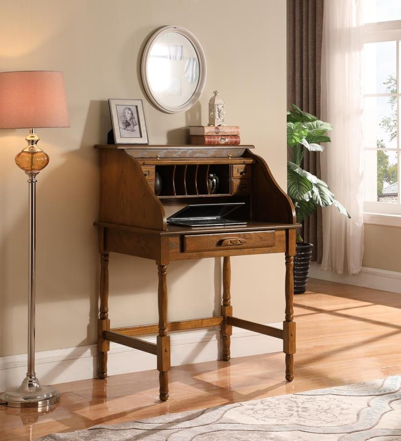 Rudd Collection Palmetto Warm Honey Roll Top Secretary