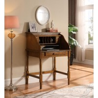 RUDD COLLECTION - Palmetto Warm Honey Roll Top Secretary Desk