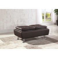 DILLESTON COLLECTION - Dilleston Contemporary Brown Ottoman