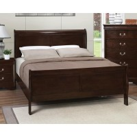 LOUIS PHILIPPE COLLECTION - Louis Philippe Cappuccino Eastern King Sleigh Bed