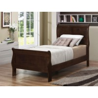 LOUIS PHILIPPE COLLECTION - Louis Philippe Cappuccino Twin Sleigh Bed