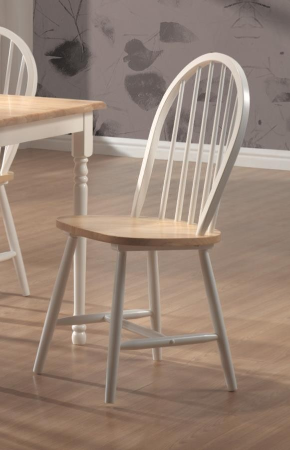 Dinettes Wood Country Two Tone Natural Wood Dining
