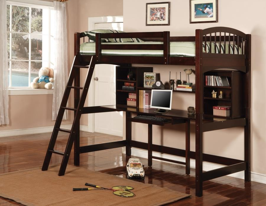 PERRIS COLLECTION - TWIN WORKSTATION LOFT BED