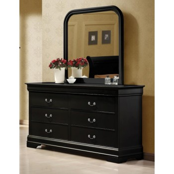 LOUIS PHILIPPE COLLECTION - Louis Philippe Black Six-Drawer Dresser