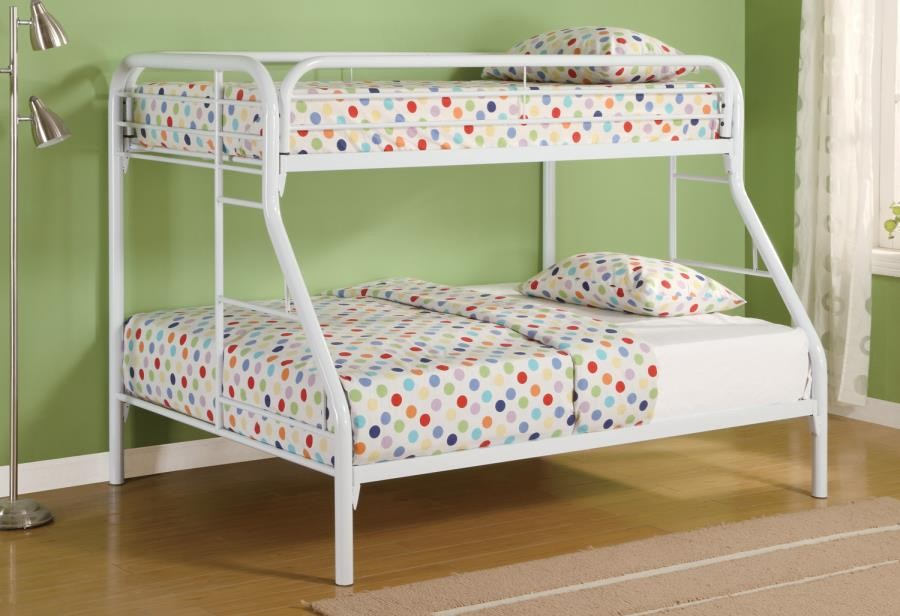 Fordham Twin Bunk Beds Morgan Over Full White Bed