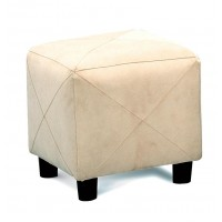LIVING ROOM: GLASS TOP OCCASIONAL TABLES - OTTOMAN