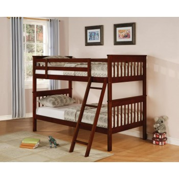 PARKER COLLECTION - Parker Chestnut Twin-over-Twin Bunk Bed