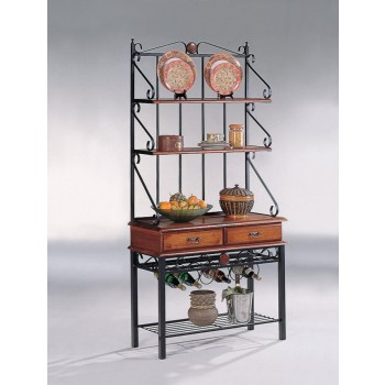 DINING: KITCHEN STORAGE - Traditional Tobacco Baker's Rack