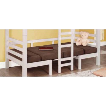 JOAQUIN CONVERTIBLE BUNK BED - Casual Chocolate Loft Bunk Bed