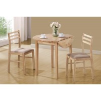 PACKAGED SETS: 3 PC SET - Casual Natural and Beige Three-Piece Dining Set