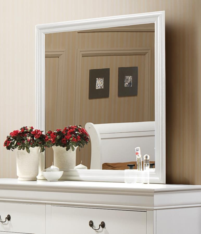 LOUIS PHILLIPE COLLECTION - Louis Philippe White Dresser Mirror With Beveled Edge