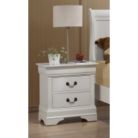 LOUIS PHILLIPE COLLECTION - Louis Philippe White Two-Drawer Nightstand