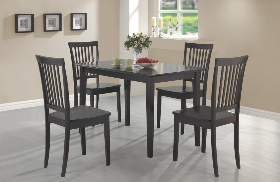 DINING: PACKAGED SETS WOOD - Oakdale Casual Cappuccino Five-Piece Dinette  Set