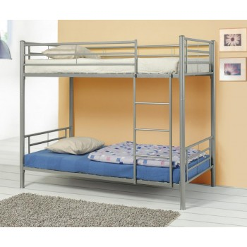 HAYWARD BUNK BED - Denley Metal Twin-over-Twin Bunk Bed