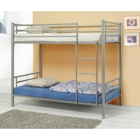 Twin/Twin Bunk Bed - Denley Metal Twin-over-Twin Bunk Bed