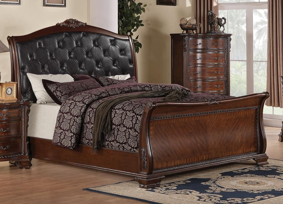 MADDISON COLLECTION - Maddison Brown Cherry Queen Bed