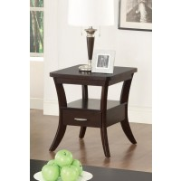 LIVING ROOM: WOOD TOP OCCASIONAL TABLES - END TABLE