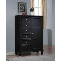 SANDY BEACH COLLECTION - Sandy Beach Black Door Dresser With Concealed Storage