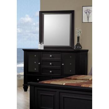 SANDY BEACH COLLECTION - Sandy Beach Black Dresser Mirror