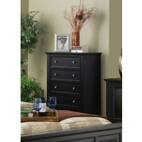 SANDY BEACH COLLECTION - Sandy Beach Black Five-Drawer Chest