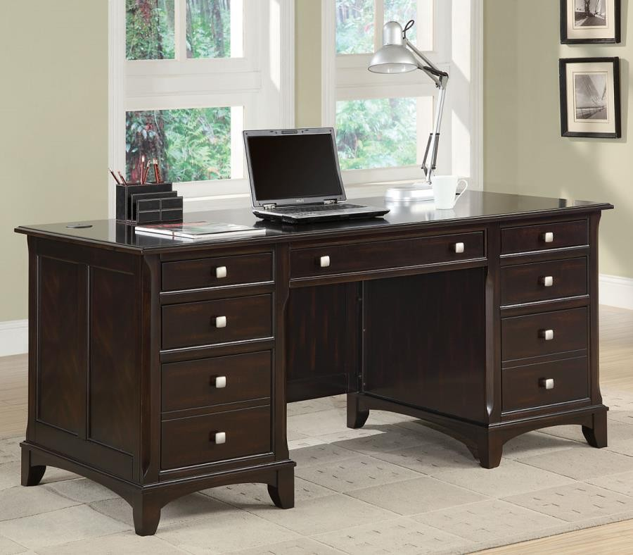 GARSON COLLECTION - Garson Transitional Cappuccino Desk