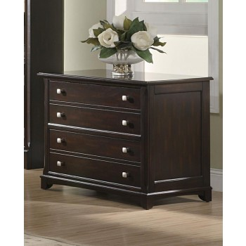 GARSON COLLECTION - Garson Transitional Cappuccino File Cabinet