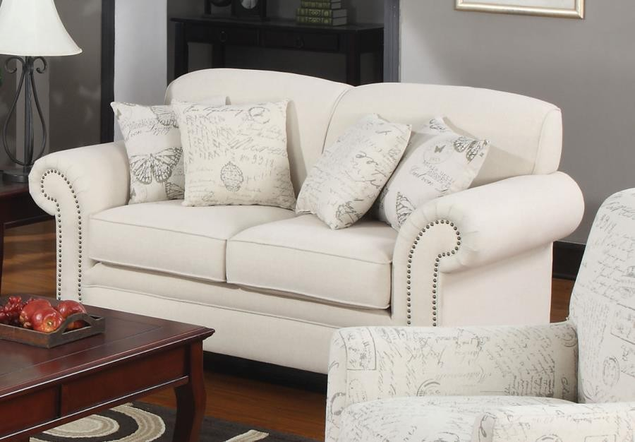 NORAH COLLECTION - Norah Traditional Oatmeal Loveseat
