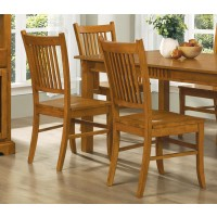 MARBRISA COLLECTION - Marbrisa Mission Burnished Oak Side Chair  (Pack of 2)