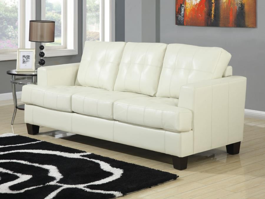 SAMUEL COLLECTION - Samuel Transitional Cream Sleeper Sofa