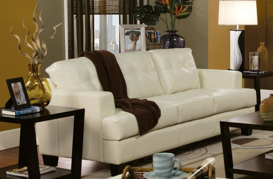 SAMUEL COLLECTION - Samuel Transitional Cream Sofa