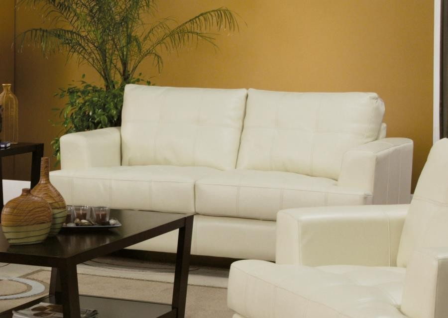 SAMUEL COLLECTION - Samuel Transitional Cream Loveseat