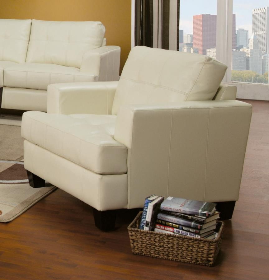 SAMUEL COLLECTION - Samuel Transitional Cream Chair