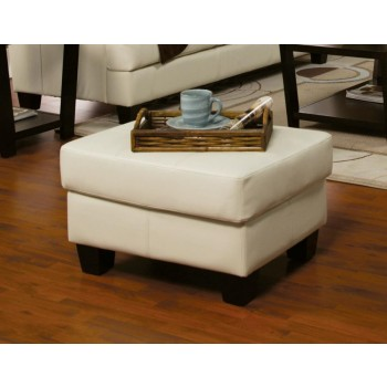 SAMUEL COLLECTION - Samuel Transitional Cream Ottoman