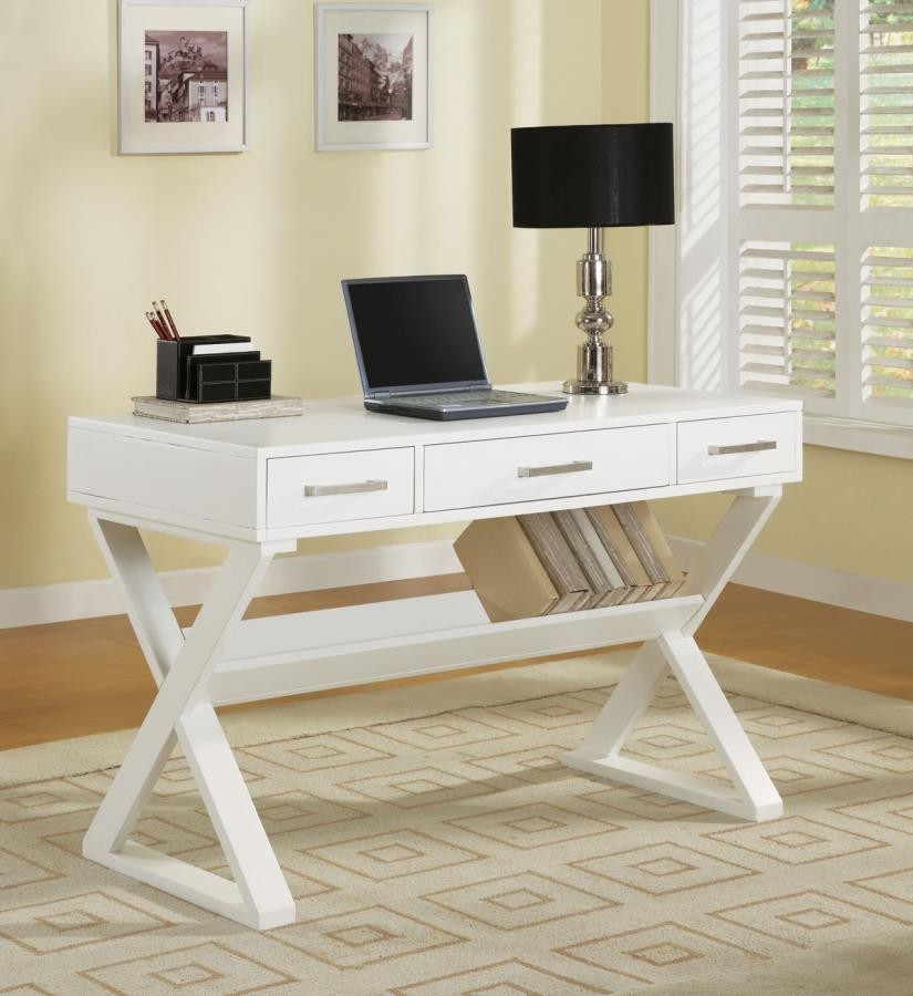 Krista Collection Casual White Writing Desk 800912