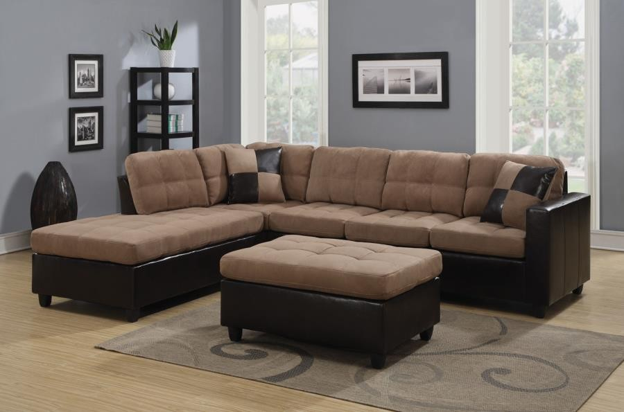MALLORY SECTIONAL - Mallory Casual Tan Sectional