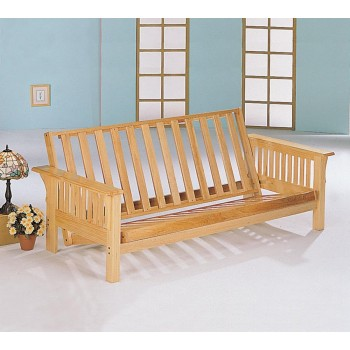 LIVING ROOM : FUTON FRAMES - Casual Weathered Oak Futon Frame