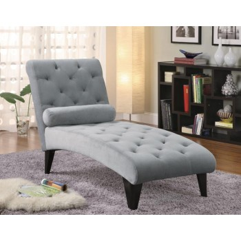 ACCENTS : CHAISES - Transitional Grey Chaise