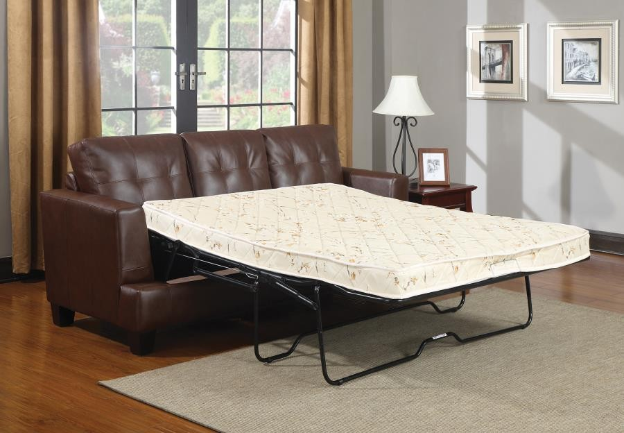 SAMUEL COLLECTION - Samuel Transitional Dark Brown Sleeper