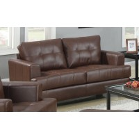 SAMUEL COLLECTION - Samuel Transitional Dark Brown Loveseat